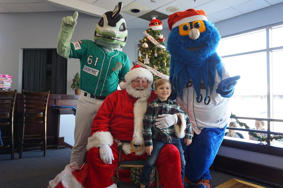 Breakfast with Santa Earl and Rip Tide and Triton