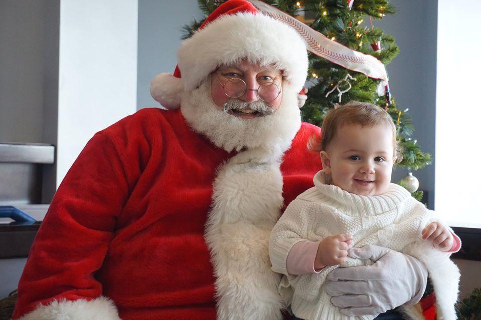 Santa Earl and baby