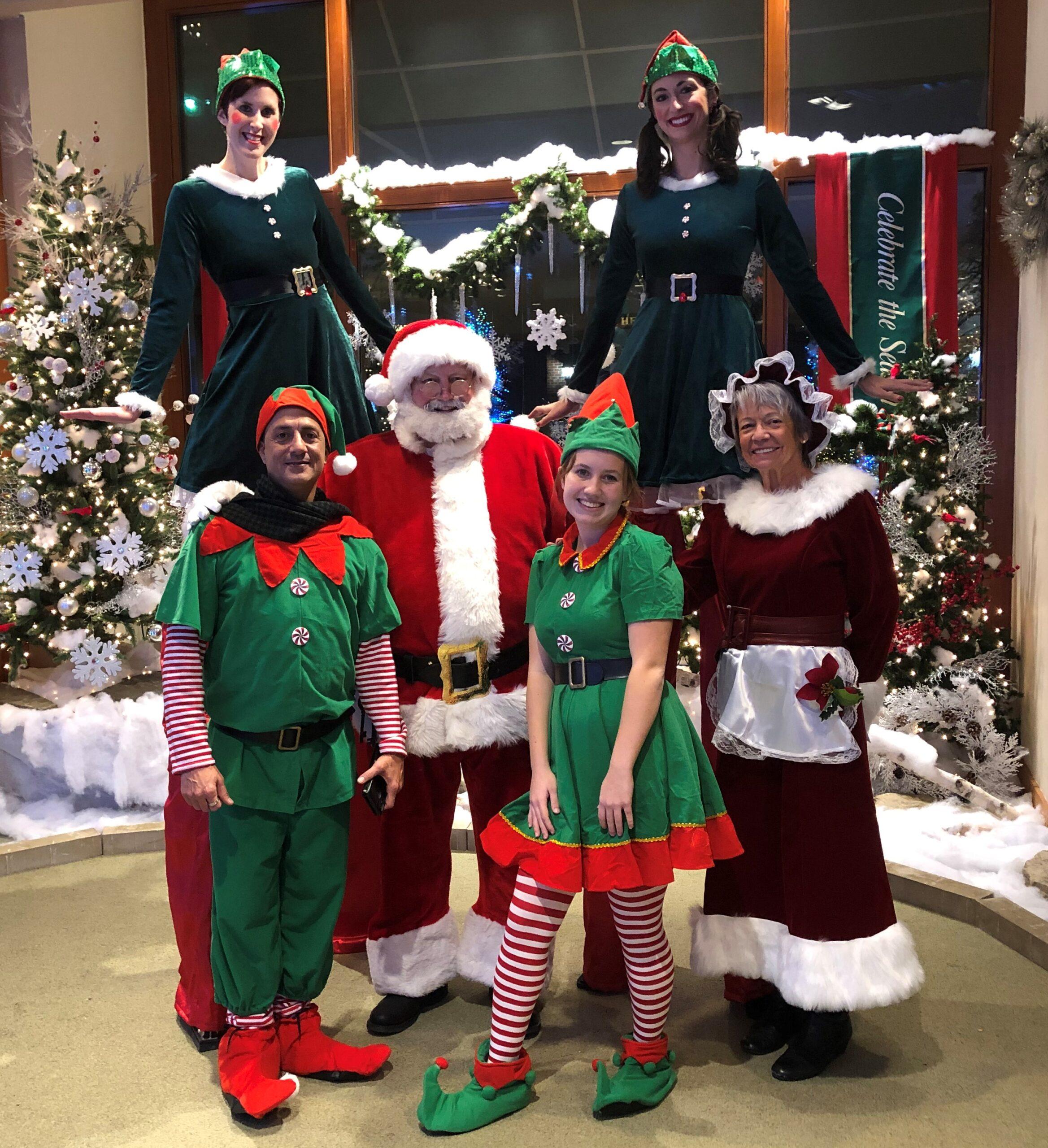 Santa Earl and his crew