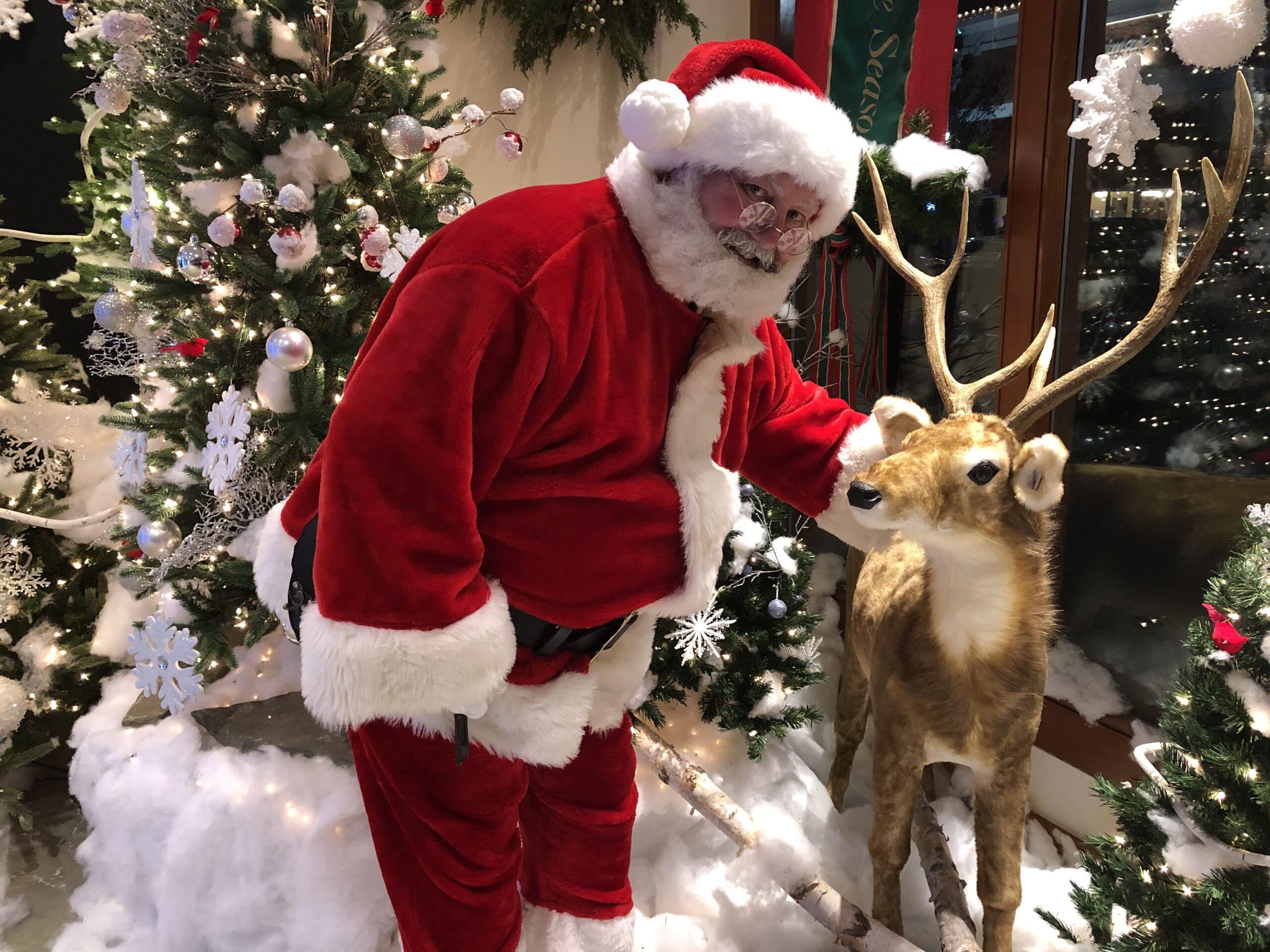 Santa Earl and his reindeer