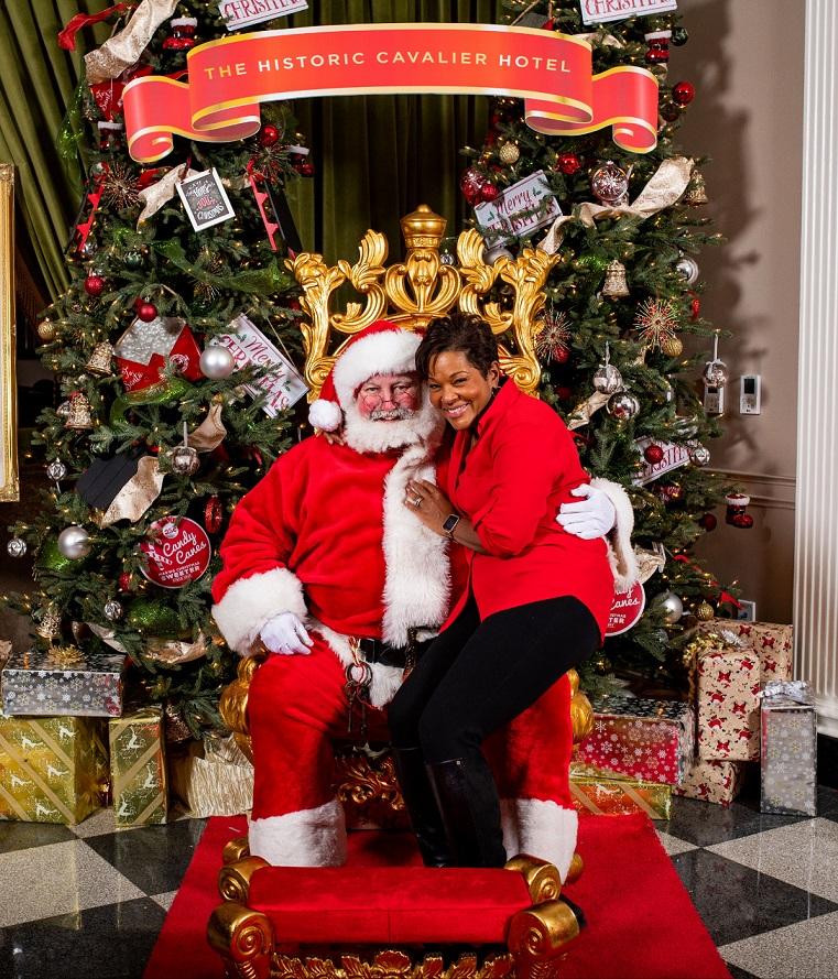 Santa Earl and Nicole Livas Channel 13 Newscaster