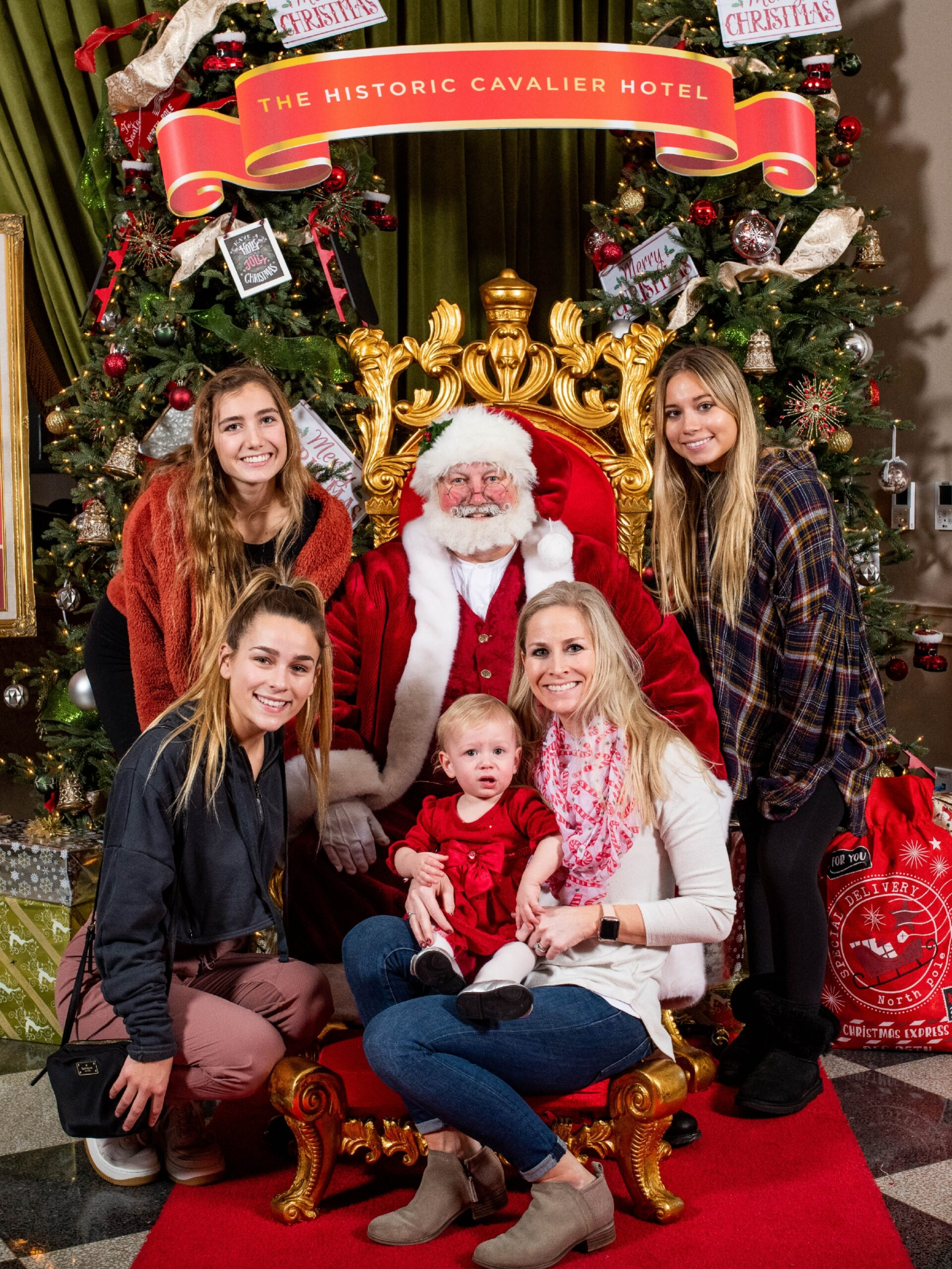 Santa Earl and all girls