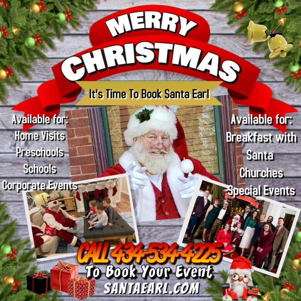 Book Santa Earl Poster website